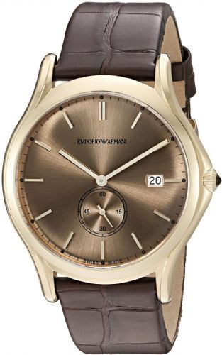 EMPORIO ARMANI Swiss Made Classic Gold Gents Watch ARS1004